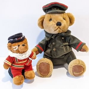 2 Harrods store plush bear knightsbridge doorman